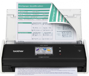 Brother ADS1500W Compact Color Desktop Scanner with Duplex and Web Connectivity Image