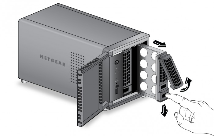 Netgear ReadyNAS_312_tray handle_drives