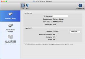 LaCie Desktop Manager