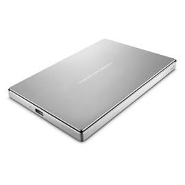 LaCie Porsche Design 2TB USB-C Mobile Hard Drive, Silver Image