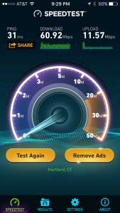 Netgear Nighthawk X8 Speed Test Results