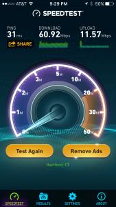 Netgear Nighthawk X8 Speed Test Results
