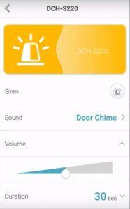 D-Link Wi-Fi Siren Options Screen