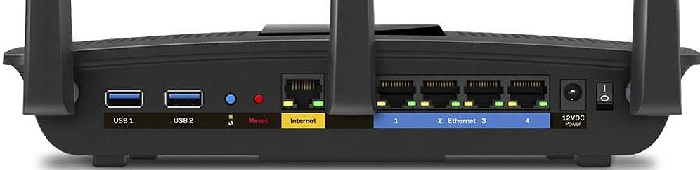 Linksys Max-Stream AC1900 Rear Panel