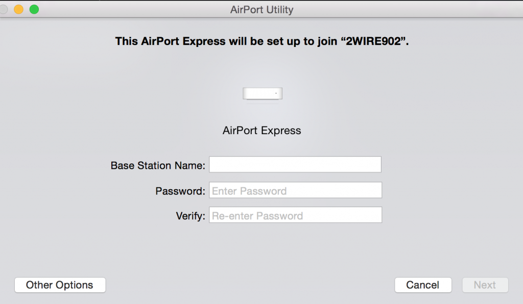 apple airport express hook up Make sure that the main non-apple router is set to share a public ip address  next, when setting up the express, just set up its network name.