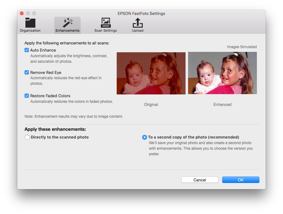 Epson FastFoto FF-640 Enhancements