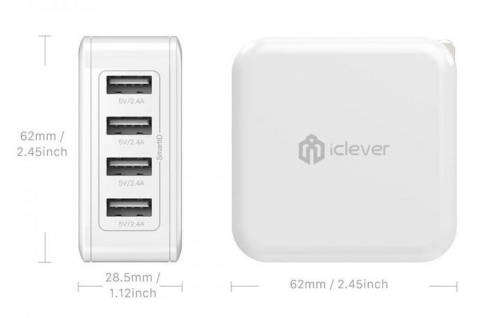 iClever BoostCube 4 Charger Size
