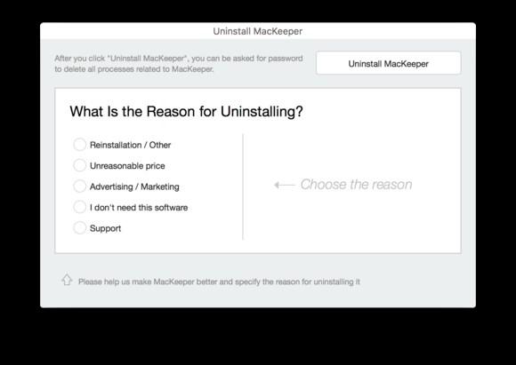 MacKeeper Uninstaller
