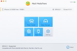 MacX_MediaTrans_old UI Menu