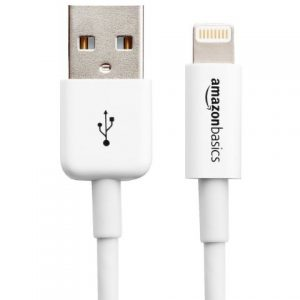 AmazonBasics Apple Certified Lightning to USB Cable - 3 Feet (0.9 Meters), White Image