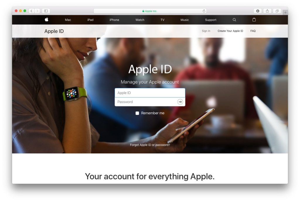 Real AppleID Page
