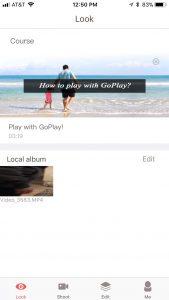 GoPlay App - Main Screen