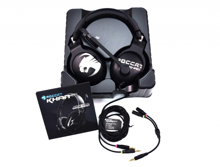 Earbuds over ear with mic - ROCCAT Khan Pro - headset Overview