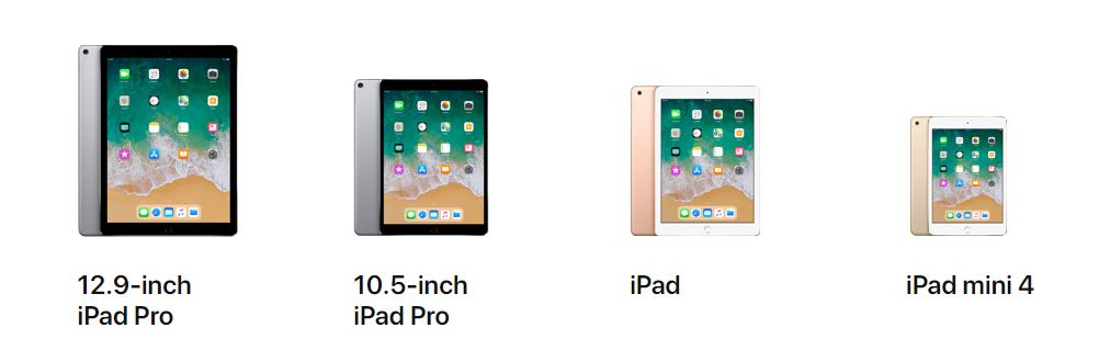 2018 iPad Models - Front