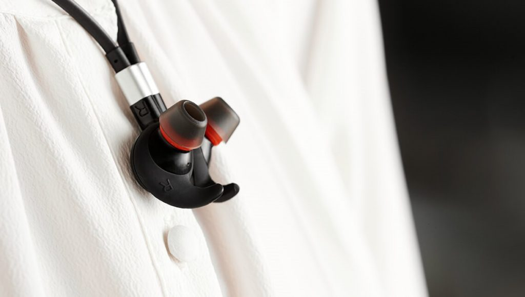 Jabra Evolve 75e Wireless Earbuds Magnetic Tips