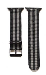 Southern Straps - BlackGreyStripes-Black