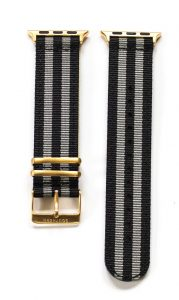 Southern Straps - BlackGreyStripes-Gold