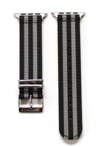 Southern Straps - BlackGreyStripes-Silver