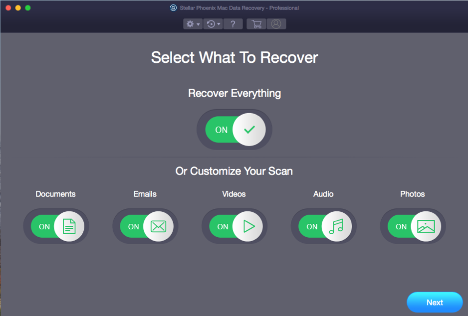 Stellar Phoenix Mac-Data Recovery Select Files