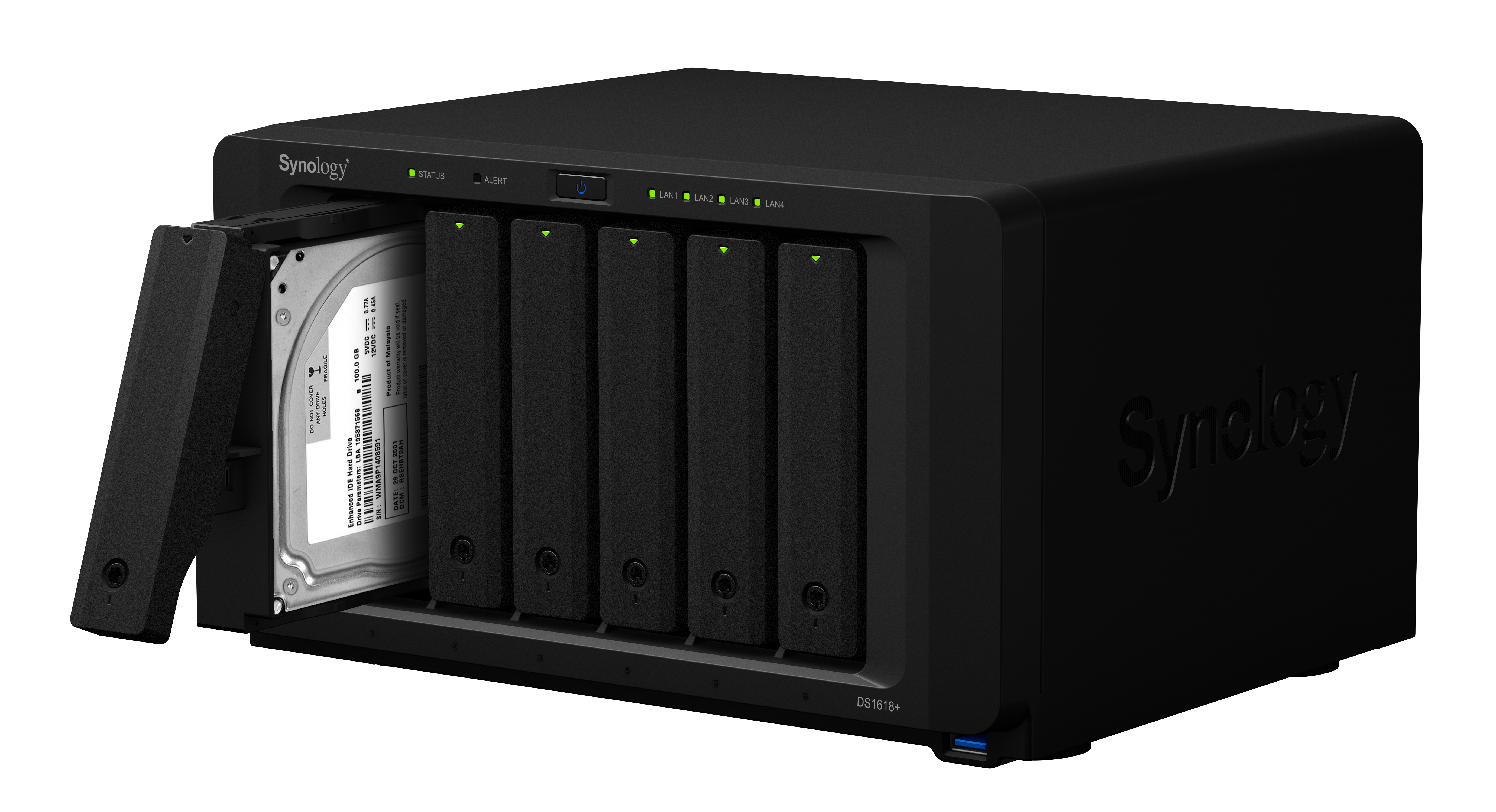 Synology® DS1618+_right-45-open-tray