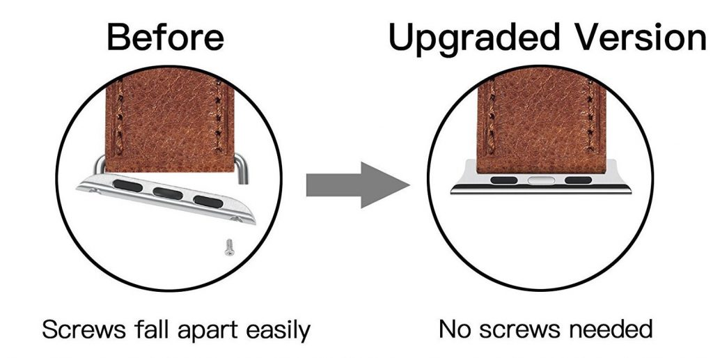 Benuo Leather Watch Band for Apple Watch Adapters