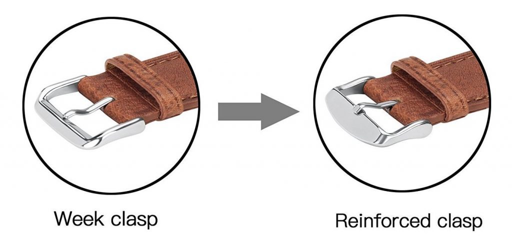 Benuo Leather Watch Band for Apple Watch Clasps