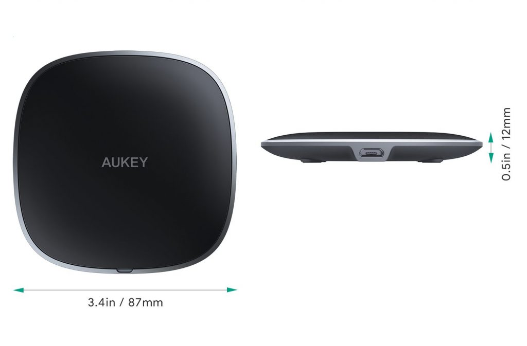 Aukey LC-C6 Wireless Charging Pad Dimensions
