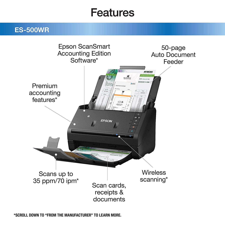Epson ES-500WR Features