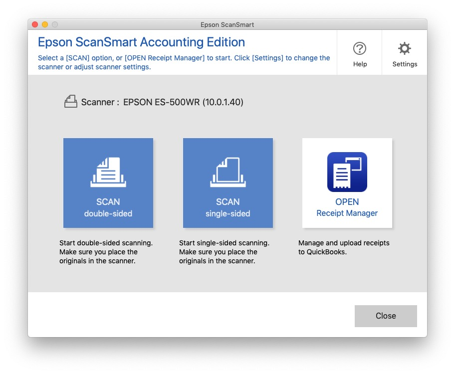 ScanSmart2 Accounting Edition Screen
