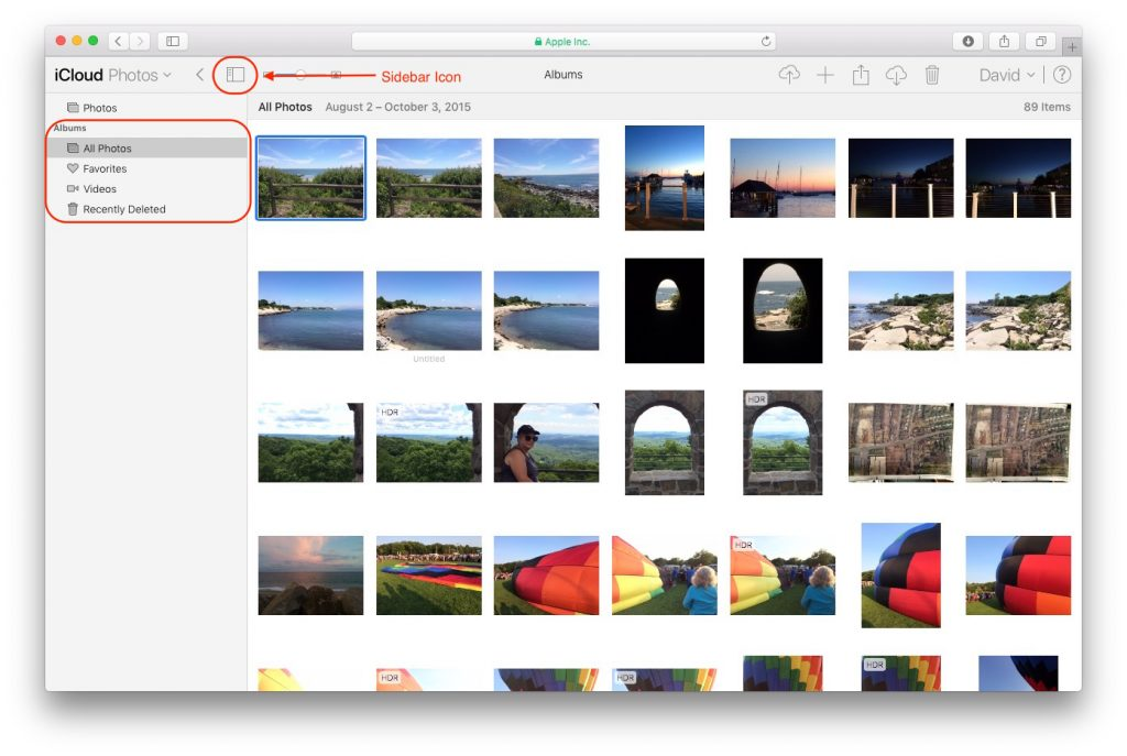 Download Photos From iCloud - Screen Shot