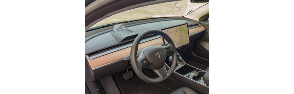 HUDWAY Introduces Sleek, Minimalistic Heads-Up Display Designed for Tesla Models 3 and Y