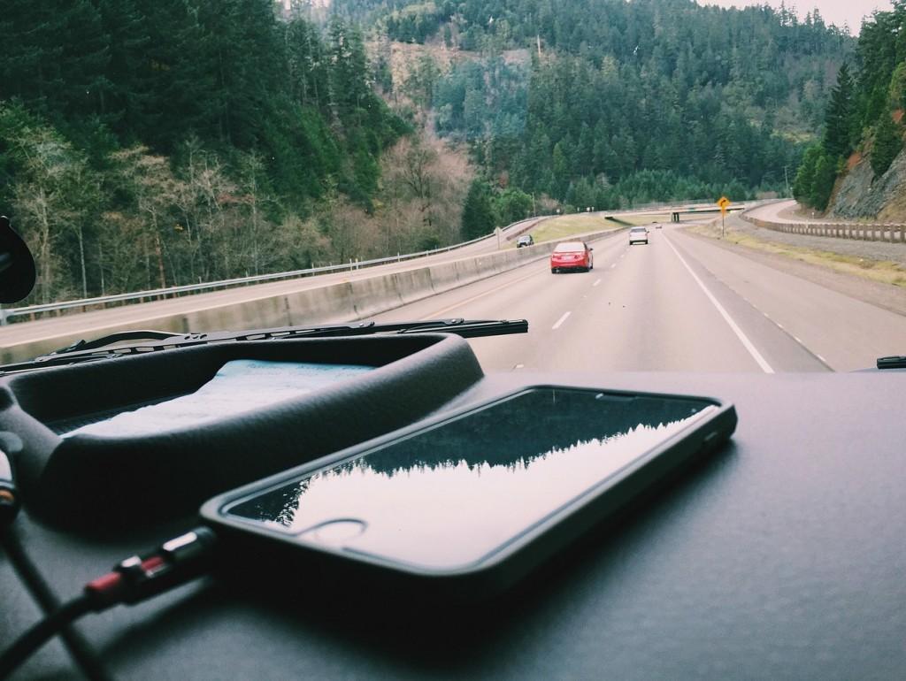 iPhone on Dash