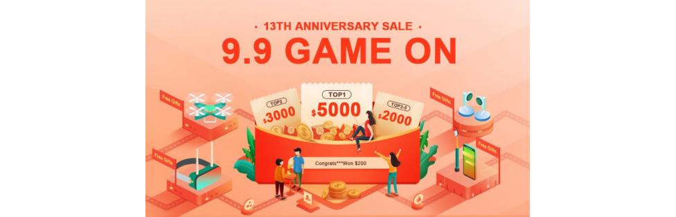 Banggood 13th Anniversary: Save Tons With Our $10000 Bonuses