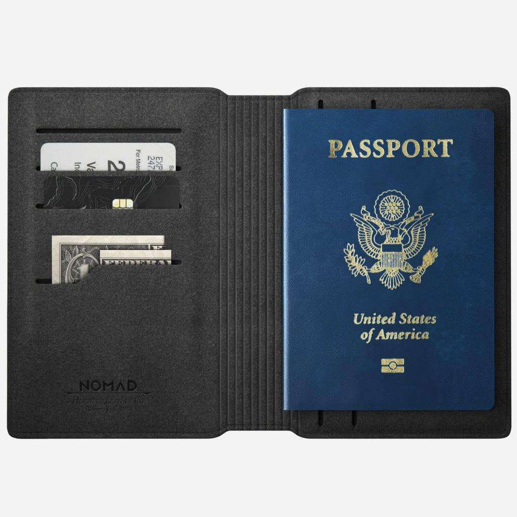 Nomad Modern Passport Wallet - Open