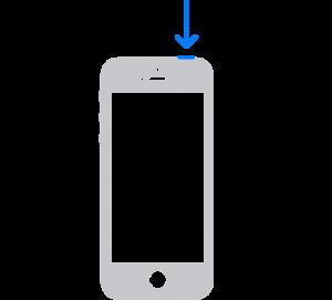 Restart iPhone SE, 5 and Earlier