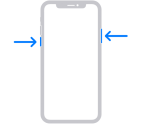 Restart iPhone X and 11