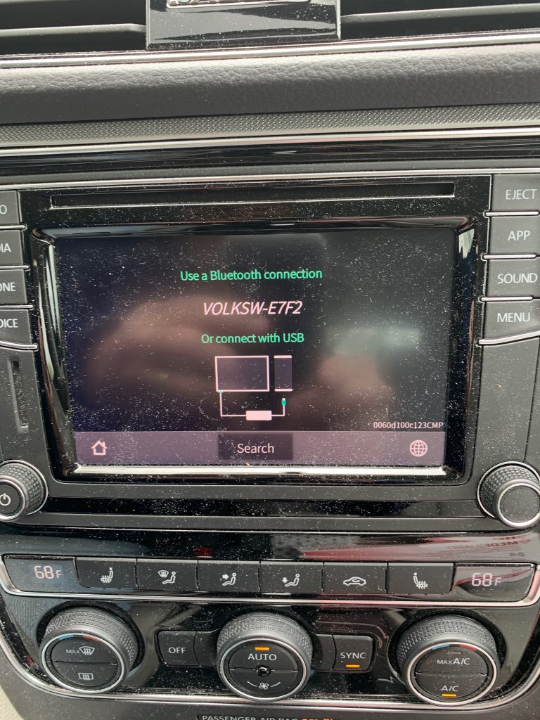 CARPLAY2air Connection Screen