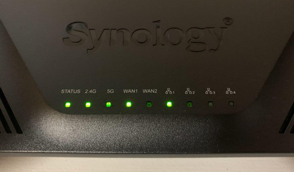 Synology RT2600ac LEDs