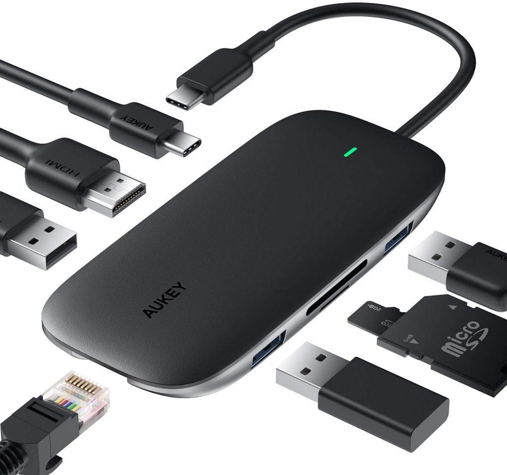 AUKEY CB-C71 Link PD Pro USB-C Hub Ports