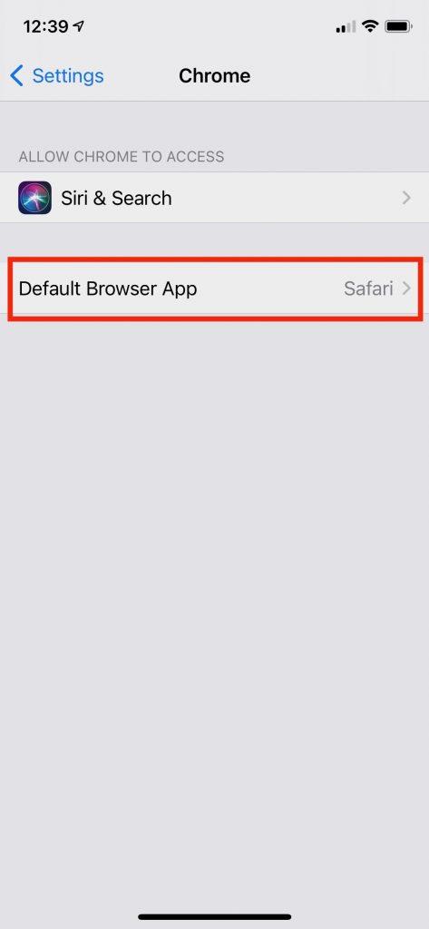 Default Browser App