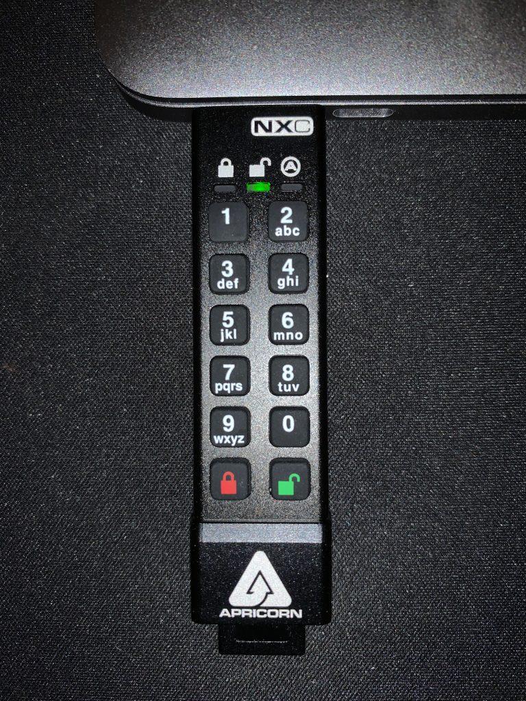 Aegis Secure Key 3NXC - In Use