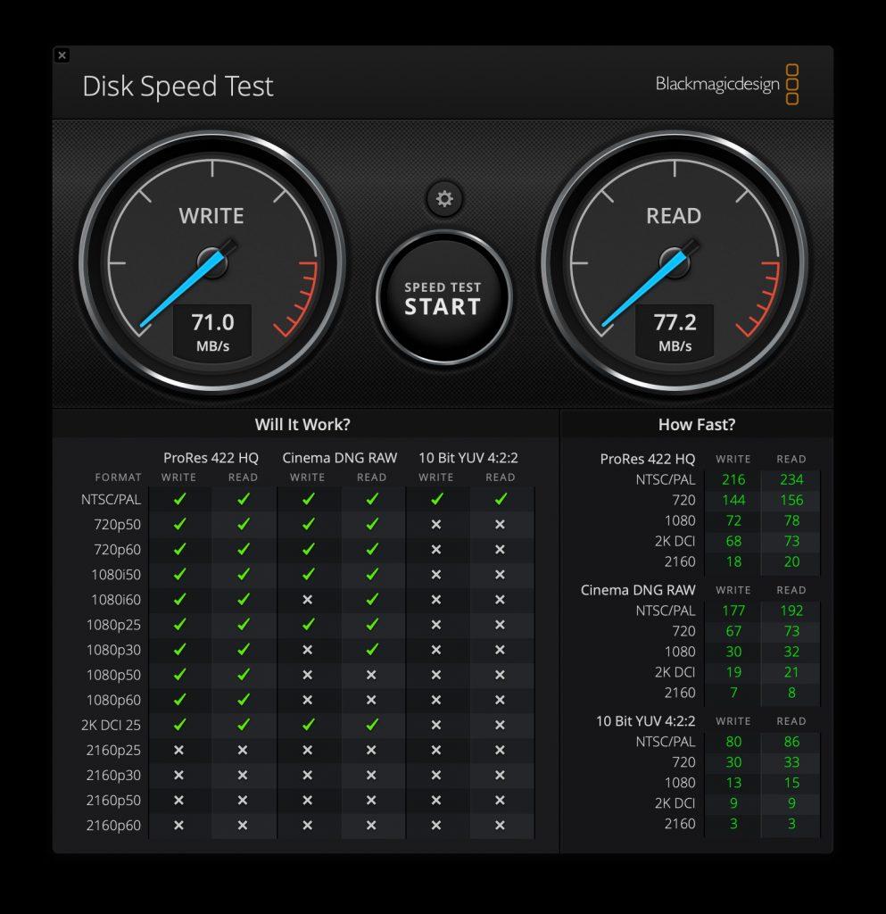 Aegis Secure Key 3NXC - Speed Test