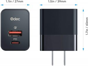 Odec OD-A2 Wall Charger - Measurements