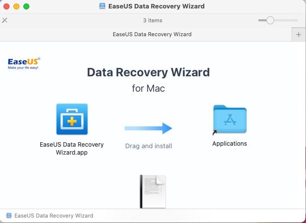 EaseUS Data Recovery Wizard – Install Screen