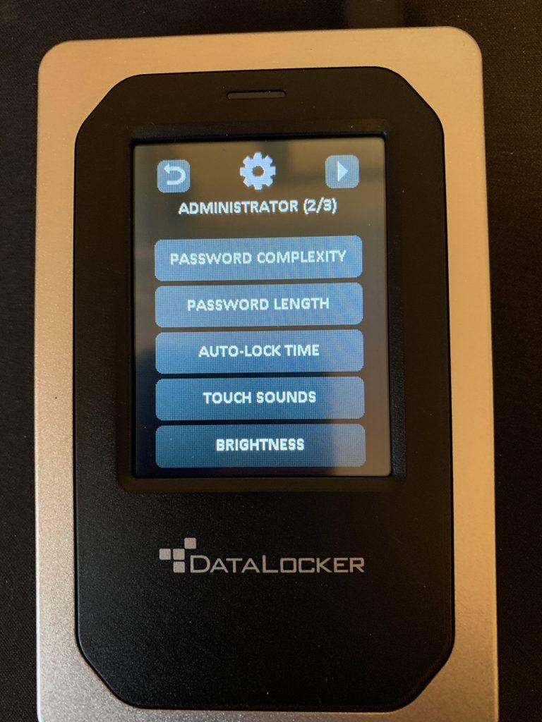 DataLocker DL4-FE - Admin Screen 2