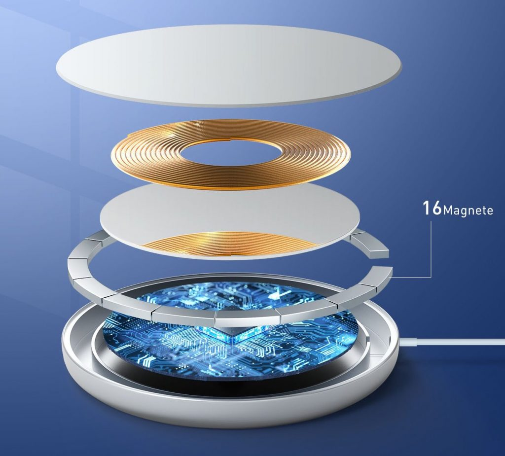 MOSONTH Magnetic Wireless Charger - Internal View