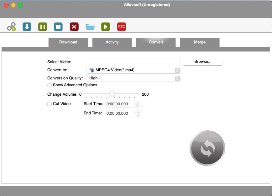 Allavsoft Video Downloader - Convert Screen