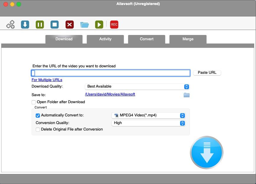Allavsoft Video Downloader - Download Screen