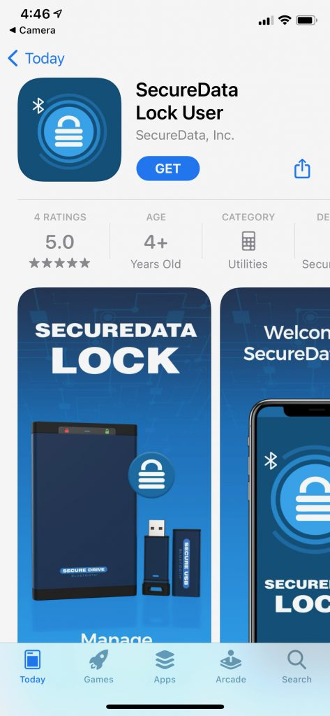 Secure Data - SecureDrive BT - App