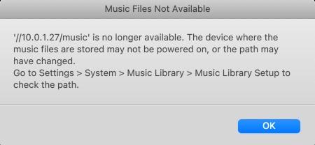 Sonos Error Message in DSM 7